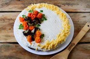 Торт из баклажанов с помидорами и сыром - фото шаг 10