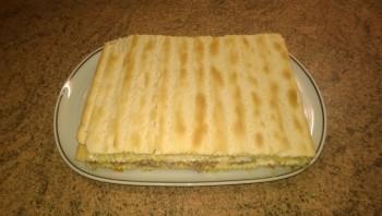 Слоеный торт с рыбой - фото шаг 8
