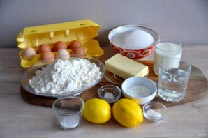 Лимонный торт с белковым кремом - фото шаг 1