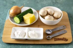 Салат из жареных грибов - фото шаг 1