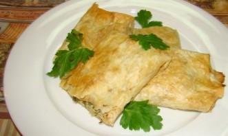 Армянский лаваш с сыром в духовке - фото шаг 4