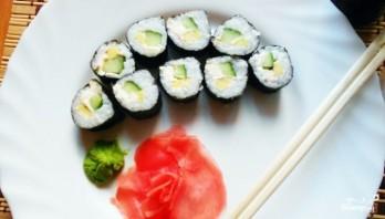 Вегетарианские суши и роллы - фото шаг 6