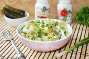 Картофельный салат с зеленым луком - фото шаг 8