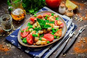 Салат с зеленым горошком и сухариками - фото шаг 8