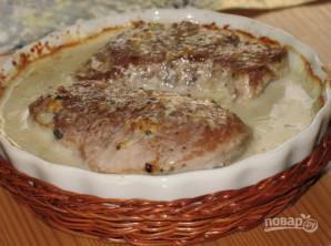 Свинина со сливками и сыром - фото шаг 5