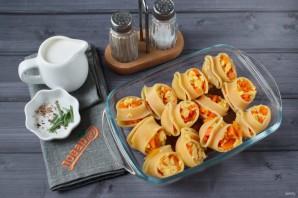 Ракушки, запеченные с тыквой и сыром - фото шаг 4