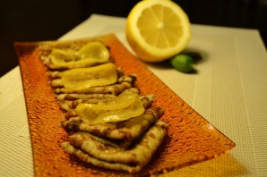Блинчики в лимонной карамели - фото шаг 5