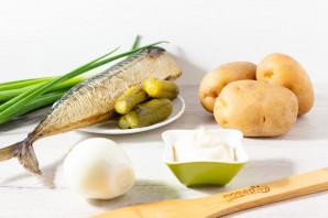 Салат с рыбой горячего копчения и картофелем - фото шаг 1