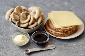 Сэндвич с грибами и сыром - фото шаг 1