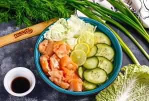 Поке с лососем - фото шаг 5