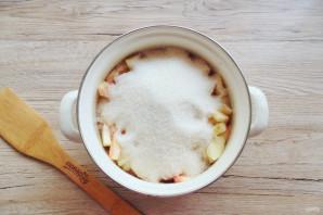 Вишневое варенье с яблоками - фото шаг 6