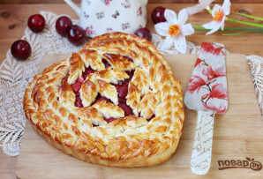 Дрожжевой пирог со сливами - фото шаг 17