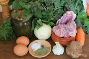 Зеленый борщ с говядиной - фото шаг 1