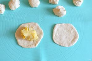 """Тонкие пирожки с картошкой """"Крестьянские"""" - фото шаг 12"""