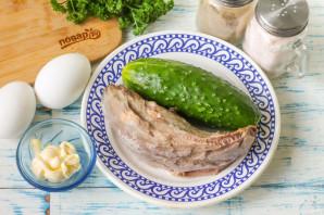 Салат из свиного языка с огурцом - фото шаг 1