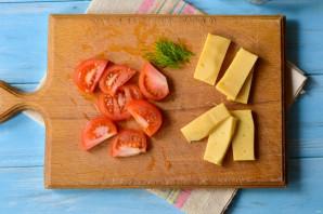 Куриная грудка фаршированная сыром и помидорами - фото шаг 2
