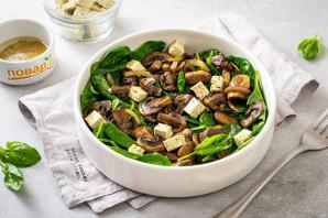 Салат с грибами шампиньонами жареными - фото шаг 7