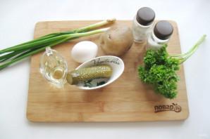 Картофельный салат с зеленым луком - фото шаг 1