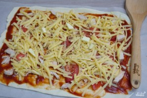 Пицца из бездрожжевого теста в духовке - фото шаг 6