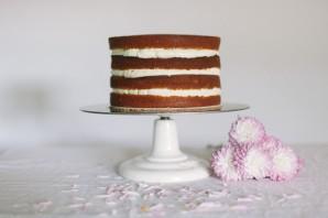 Бисквитный торт с фруктовой начинкой - фото шаг 8