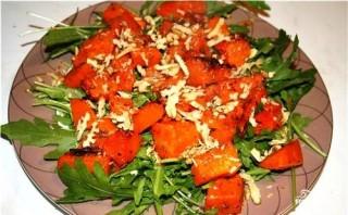 Салат с тыквой и грецкими орехами - фото шаг 3