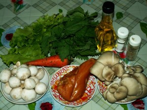 Салат из вешенок - фото шаг 1