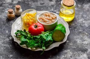 Салат с рукколой и фасолью - фото шаг 1