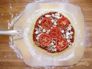 Пицца с помидорами на гриле - фото шаг 6