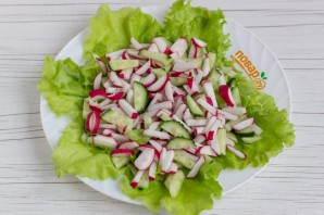 Салат с сырными шариками - фото шаг 6