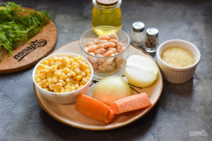 Суп с фасолью и кукурузой - фото шаг 1