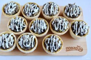 Тарталетки с паштетом и грибами - фото шаг 6