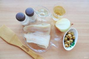 Рыба запеченная с оливками - фото шаг 1
