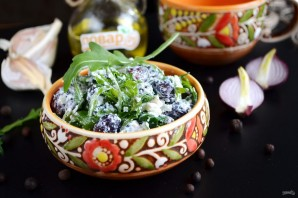 Салат из красной фасоли с творожным сыром - фото шаг 5