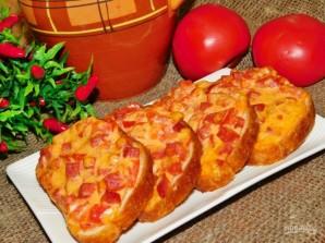 Запеченные бутерброды с колбасой - фото шаг 4