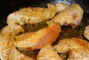 Салат с курицей и кунжутом - фото шаг 2