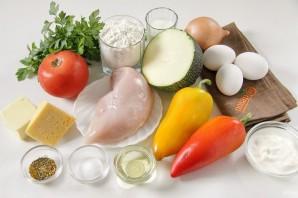 Киш с овощами и курицей - фото шаг 1