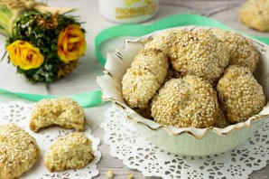 Постное печенье с кунжутом - фото шаг 7