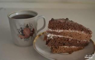 Шоколадный торт со сметанным кремом - фото шаг 8