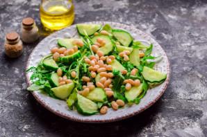 Салат с рукколой и фасолью - фото шаг 4