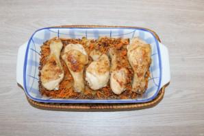 Куриные ножки с гречкой в духовке - фото шаг 8