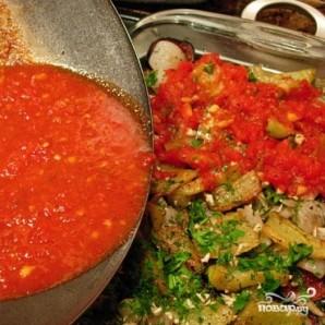 Баклажаны с раздельно обжаренными овощами - фото шаг 12