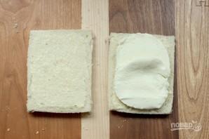 Жареный сэндвич с моцареллой - фото шаг 2