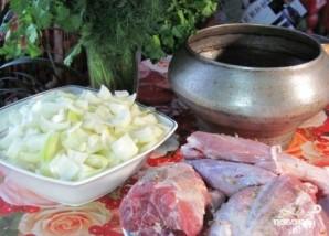 Мясо в чугунке в духовке - фото шаг 3