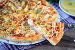 Гавайская пицца с ананасами и курицей - фото шаг 15