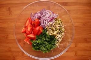 Салат с пророщенным машем - фото шаг 5