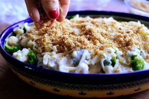 Запеканка из брокколи и цветной капусты - фото шаг 18