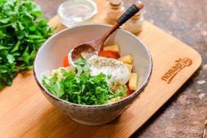 Салат с чесноком - фото шаг 5