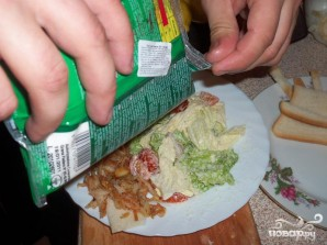 Крабовая закуска и салат - фото шаг 5