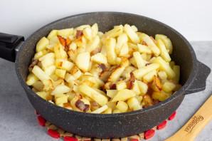 Картошка с грибами и салом - фото шаг 5