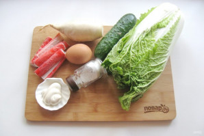 Салат с дайконом и крабовыми палочками - фото шаг 1